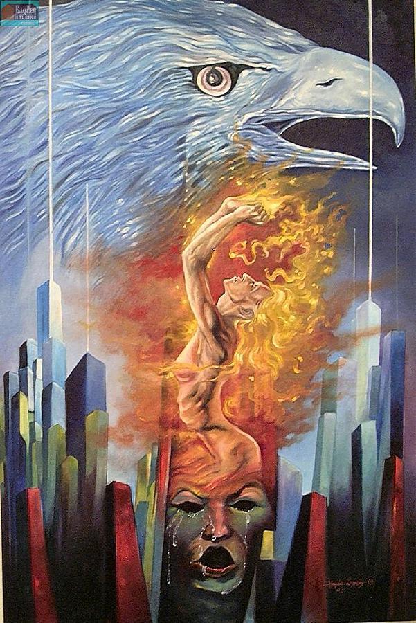 Septamper 11 Painting by Haydar Al-yasiry