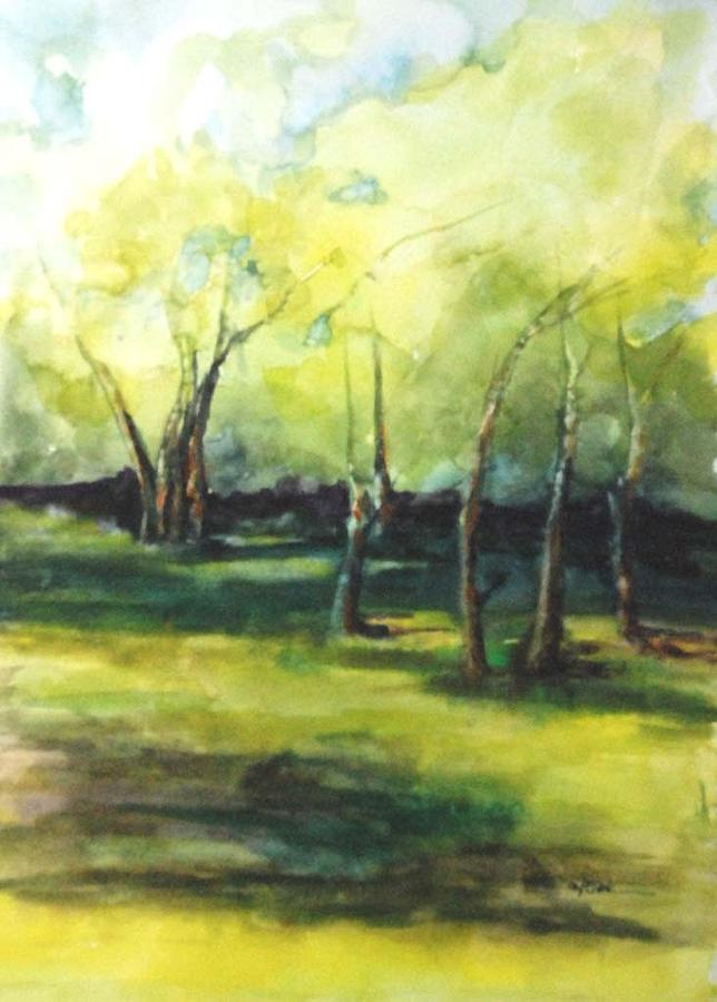 Trees Painting - September At Mac O Cheek by Donna Pierce-Clark