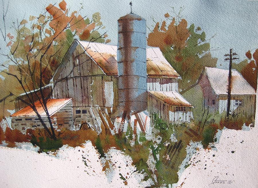 Barn Painting - September Barn by Gord  Jones