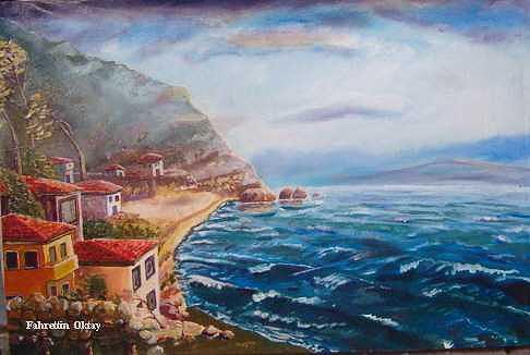 September Painting by Fahrettin  Oktay