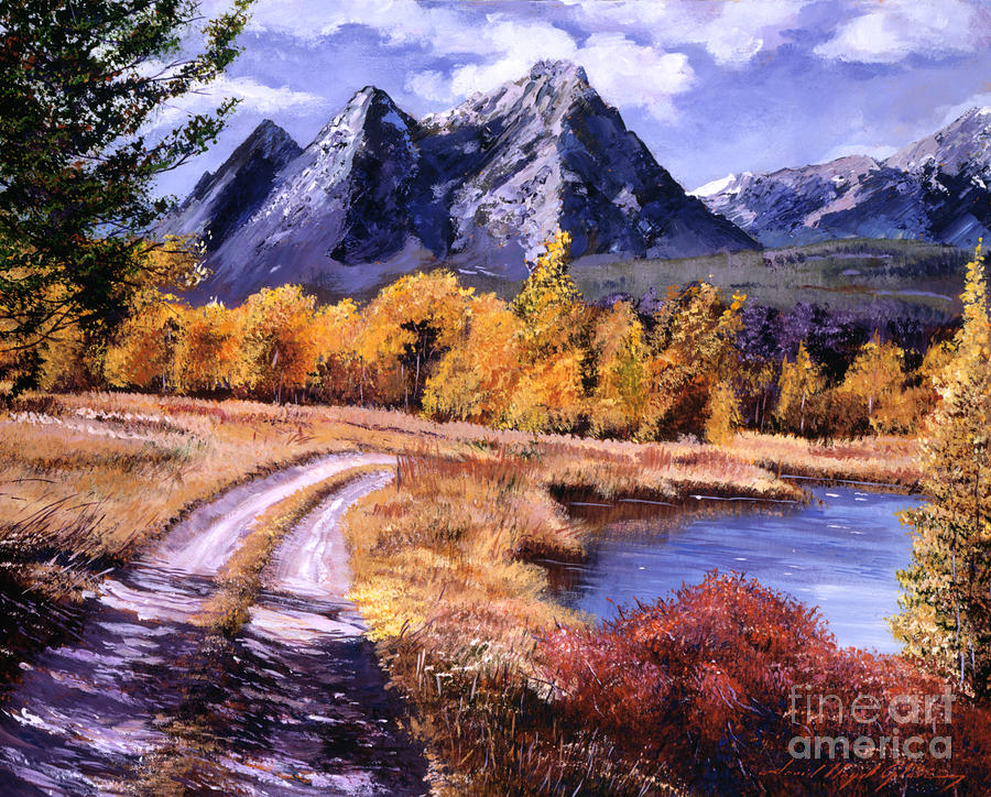 Mountains Painting - September High Country by David Lloyd Glover