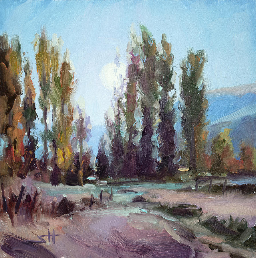Country Painting - September Moon by Steve Henderson