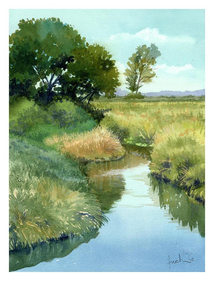 September Morning, Allen Creek by James Faecke