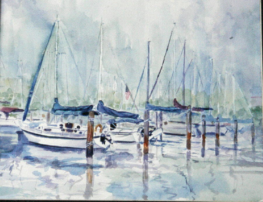 Marina Painting - September Mourning by Ruth Mabee