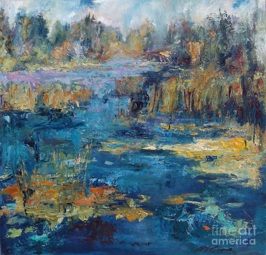 Abstract Landscape Painting - September Passage by Nan E Cooper