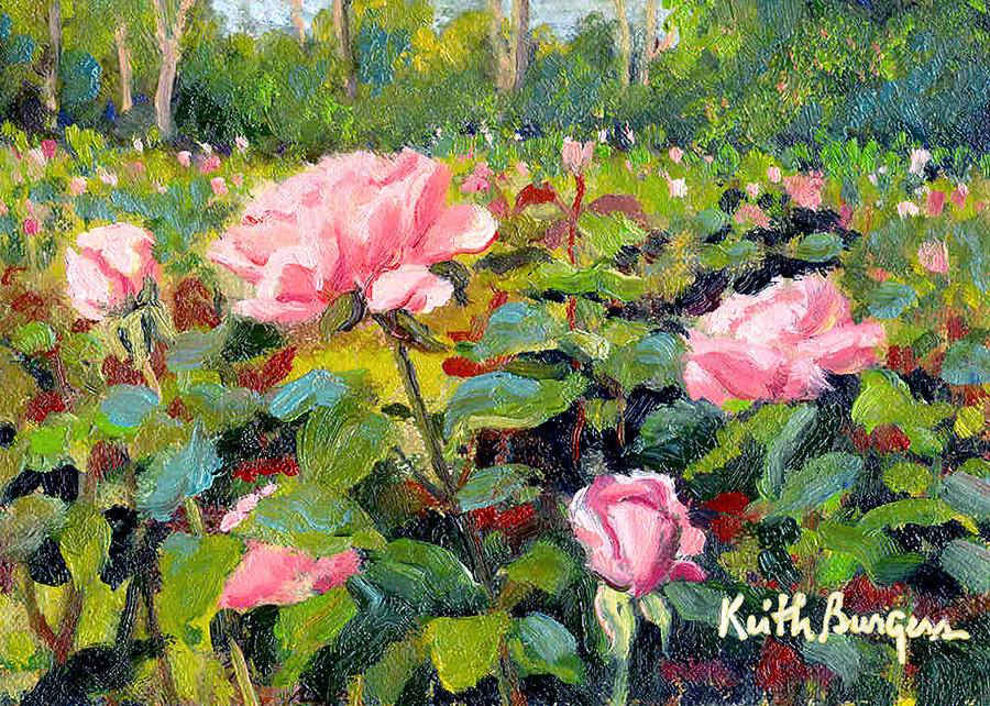 Impressionism Painting - September Roses by Keith Burgess