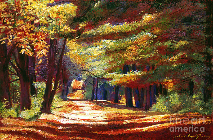 Autumn Painting - September Song by David Lloyd Glover