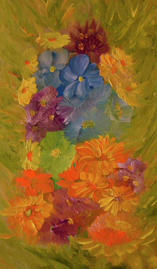 Flowers Painting - September Song by Radu Rascanu