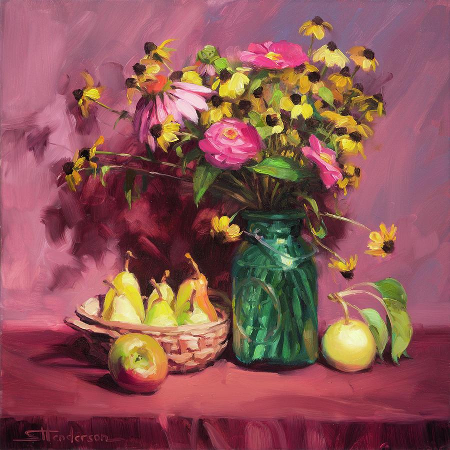 Flowers Painting - September by Steve Henderson