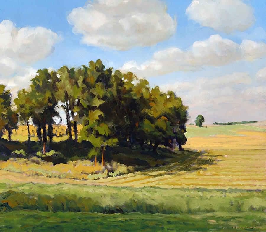Landscape Painting - September Summer by Bruce Morrison