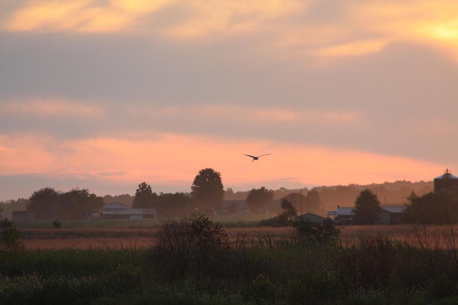 September Photograph - September Sunset by Diane Merkle
