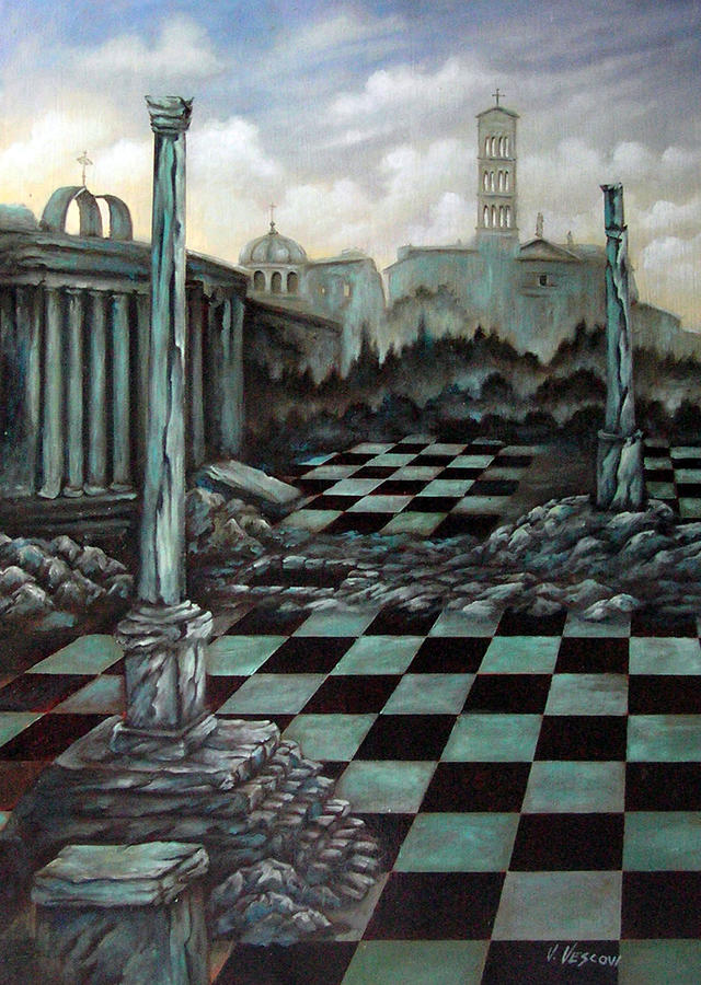 Surreal Painting - Sepulchre by Valerie Vescovi