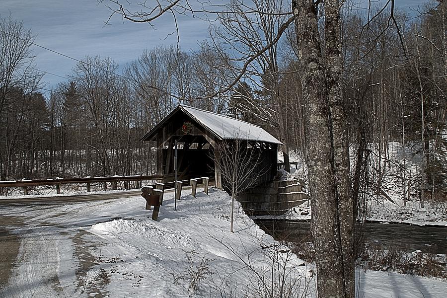 Sequin Covered Bridge by Wayne Toutaint