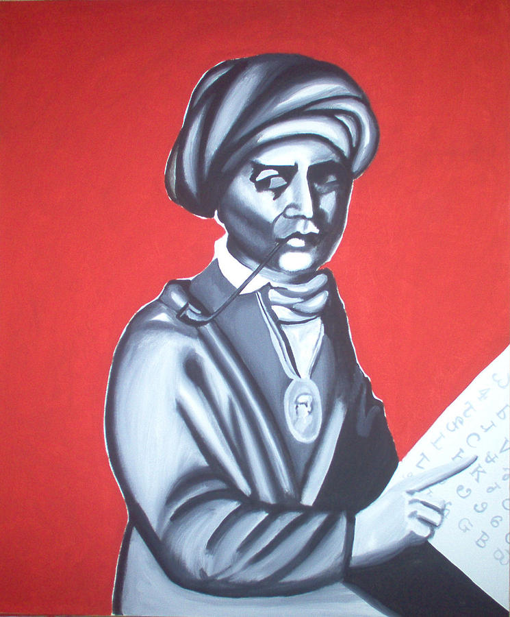 Sequoyah Painting - Sequoyah by Helen Smoker Martin