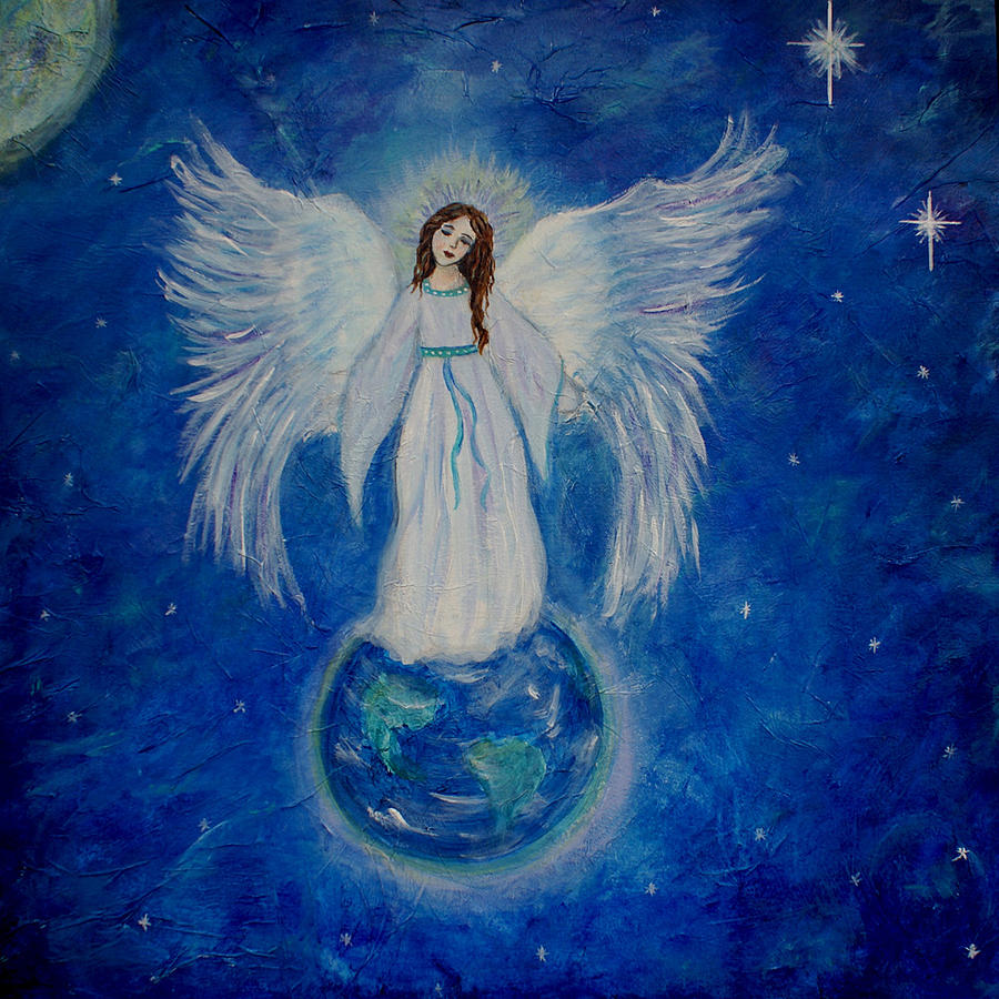Angel Painting - Seraphina by The Art With A Heart By Charlotte Phillips