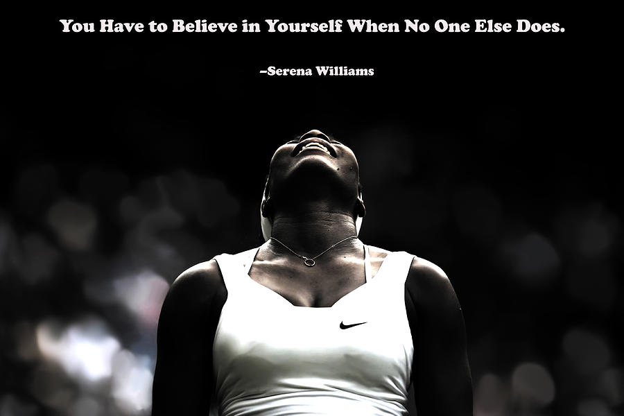 serena williams quote 2a mixed media by brian reaves