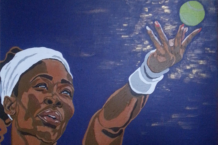 Serena Williams Painting - Serena Williams by Rachel Natalie Rawlins