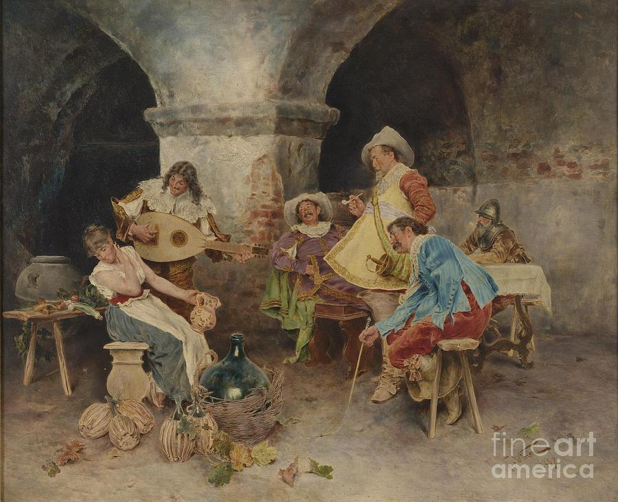 Family Painting - Serenade In The Tavern by MotionAge Designs