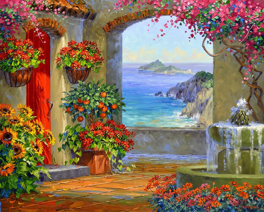 Mallorca Painting - Serenade of Mallorca by Mikki Senkarik