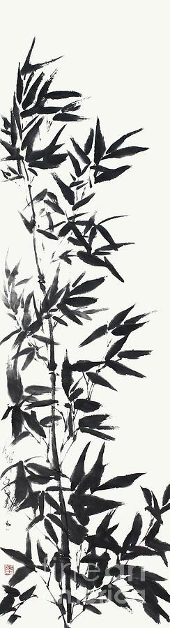 Bamboo Painting - Serene Bamboo by Nadja Van Ghelue