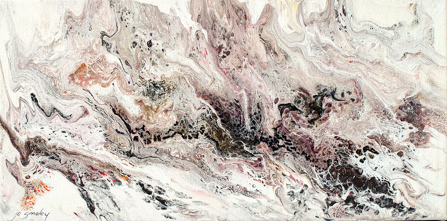 Pour Painting - Serene by Joanne Smoley