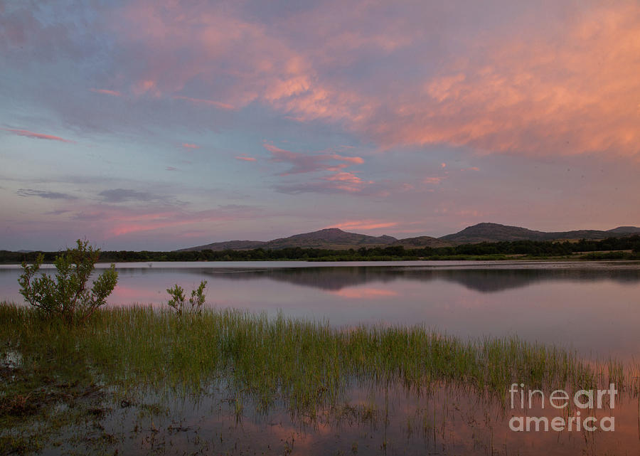 Oklahoma Photograph - Serene Lake by Iris Greenwell