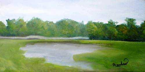 Landscape Painting - Serene Vista by Sheila Mashaw
