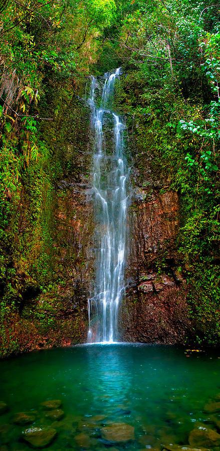 Maui Photograph - Serene Waterfall by Monica and Michael Sweet