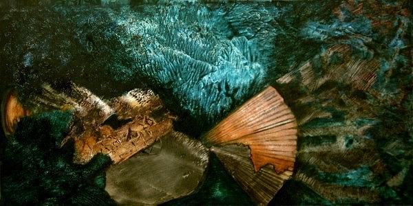 Abstract Painting - Serenidad by Sara  Diciero