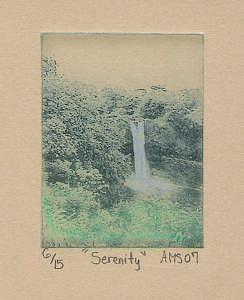 Waterfall Print - Serenity by Allison Syzdek