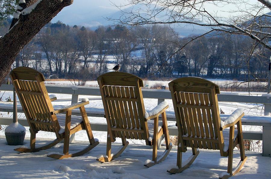 Landscape Photograph - Serenity At J C Campbell Folk School by DeLa Hayes Coward