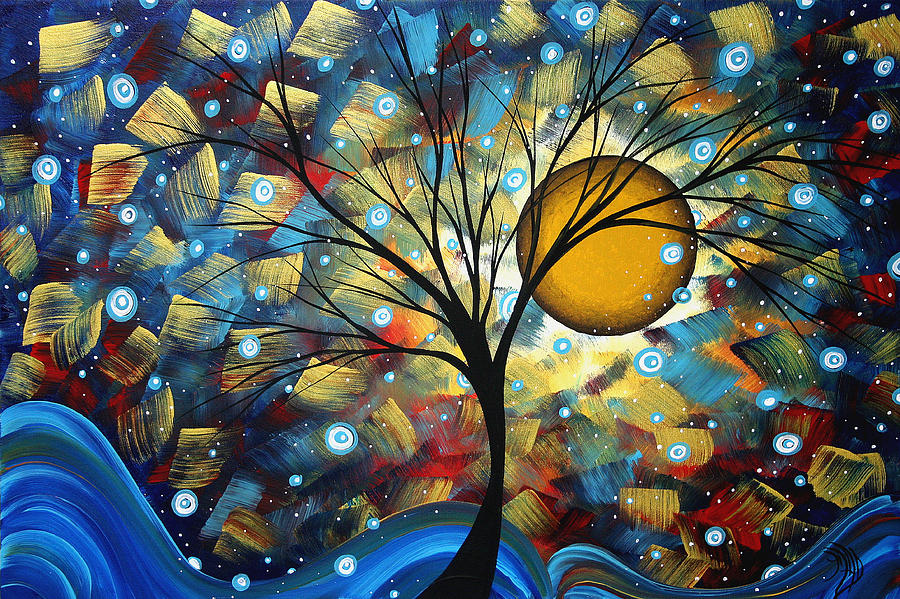 Abstract Painting - Serenity Falls By Madart by Megan Duncanson