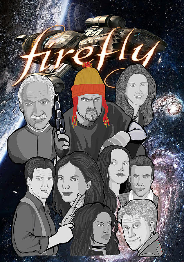 Serenity Painting - Serenity Firefly Crew by Gary Niles