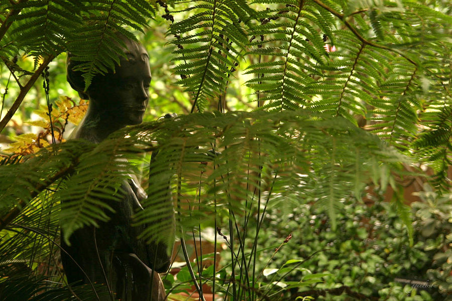 Statue Photograph - Serenity by Gary Gunderson