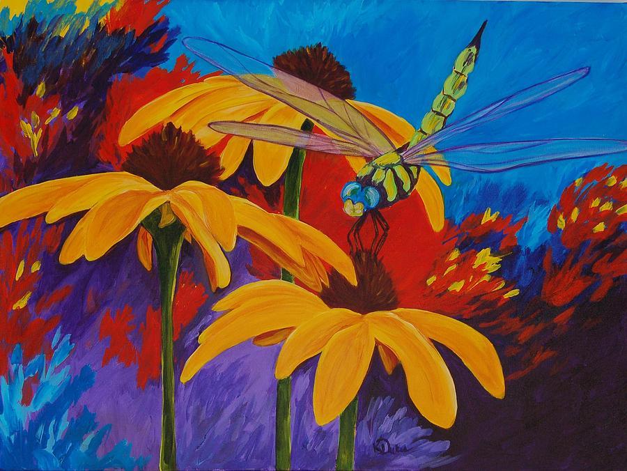 Daisy Painting - Serenity by Karen Dukes