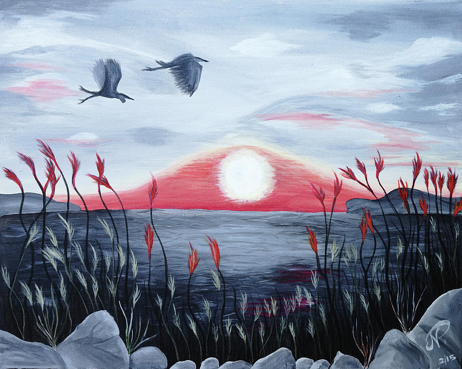 Lake Painting - Serenity by Nicole Paquette