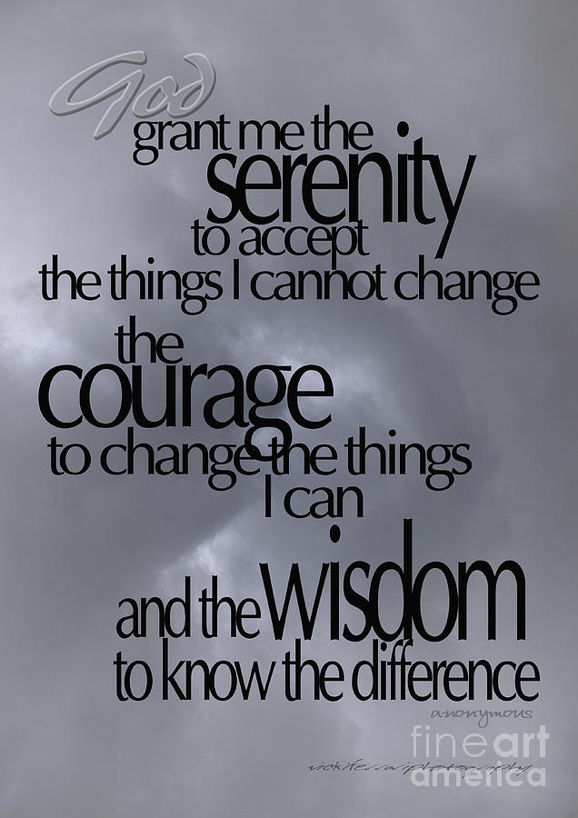 Serenity Prayer Photograph - Serenity Prayer 05 by Vicki Ferrari