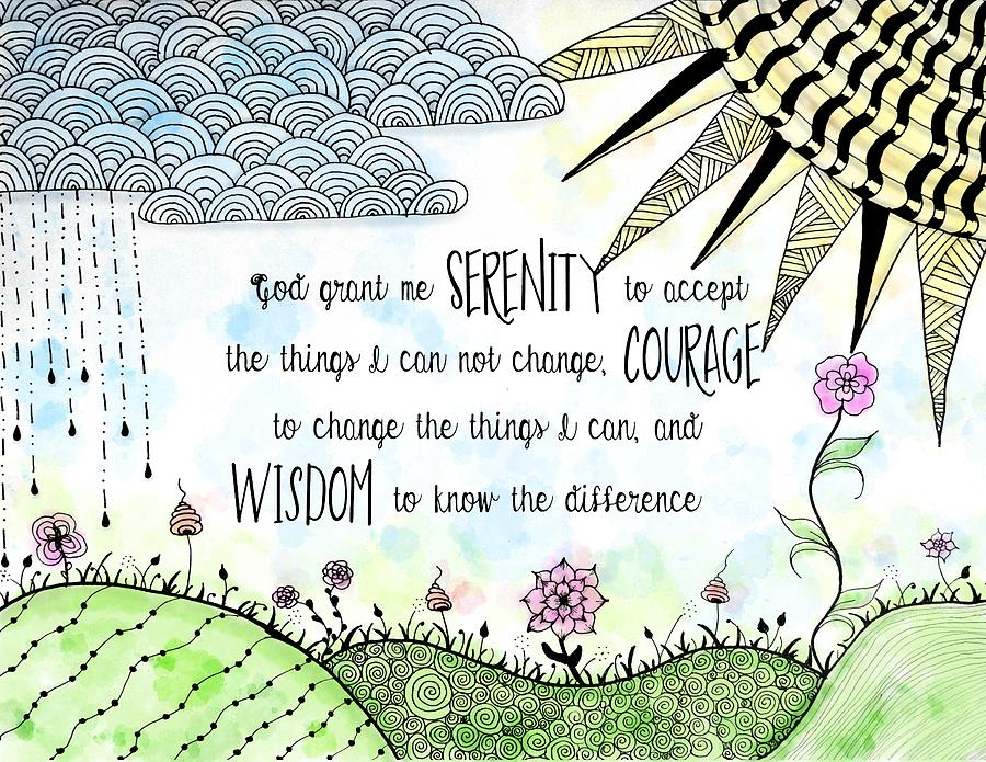 The Serenity Prayer Serenity-prayer-zentangle-watercolor-emily-smith