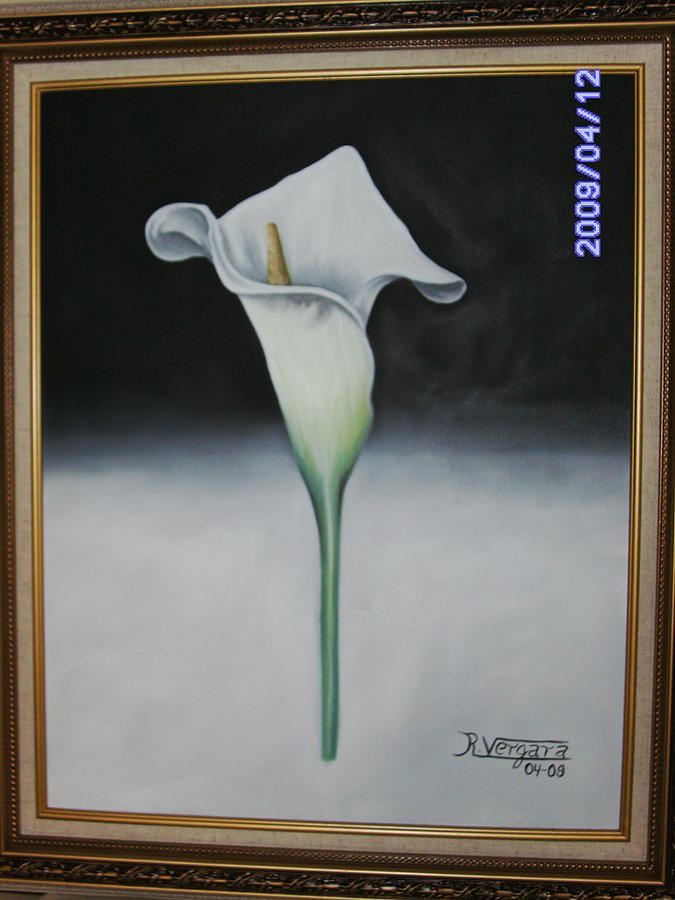 Calla Lillies Painting - Serenity  by Raul  Vergara