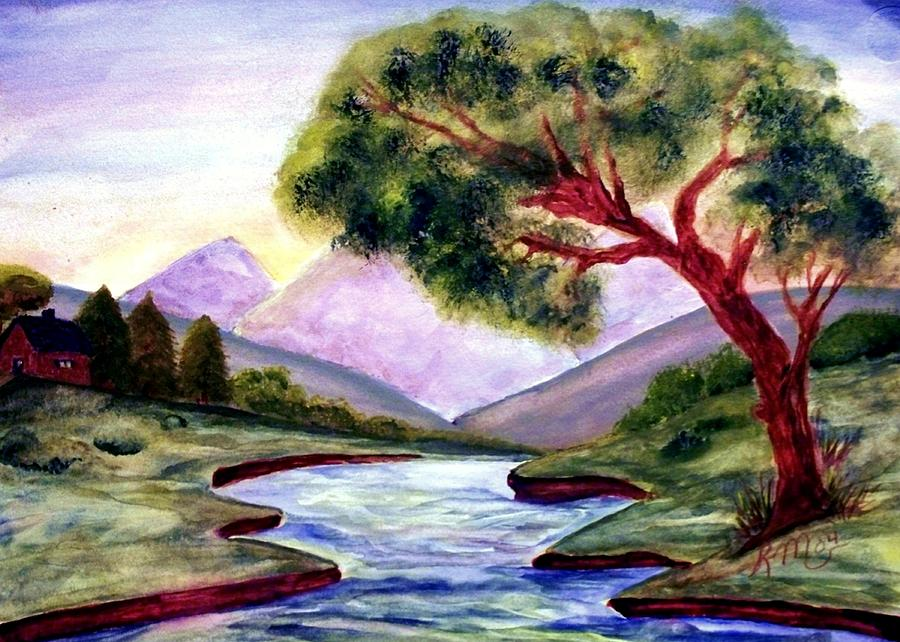 Landscape Painting - Serenity by Robin Monroe