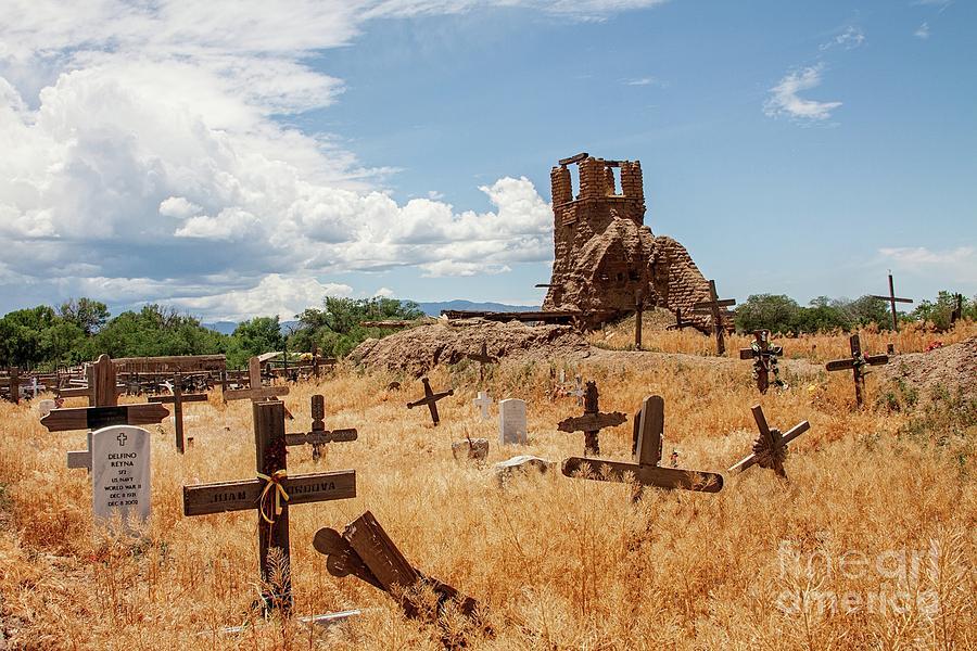Cemetery Photograph - Serenity by Sandy Adams