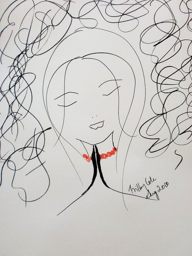 Peace Drawing - Serenity  by Trilby Cole