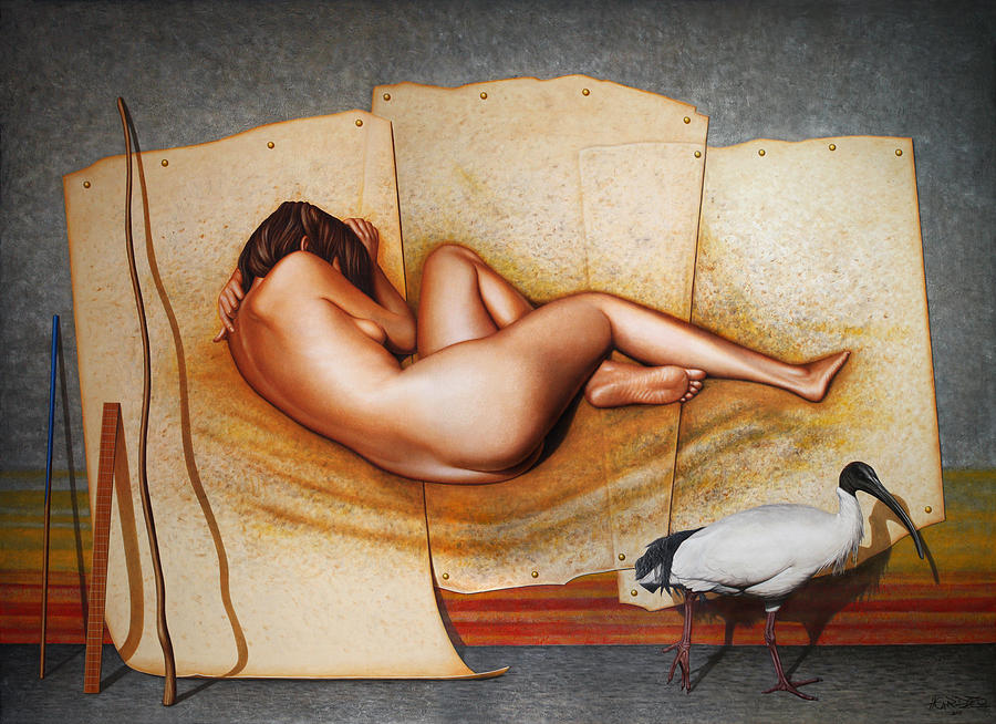Nude Painting - Serenity Uncovered by Horacio Cardozo