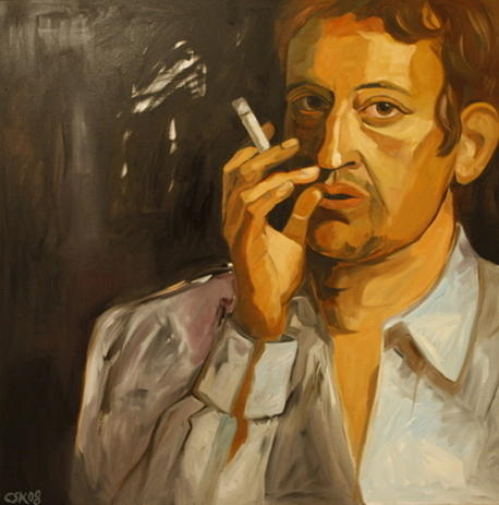 Serge Gainsbourg Painting by Carmen Stanescu Kutzelnig