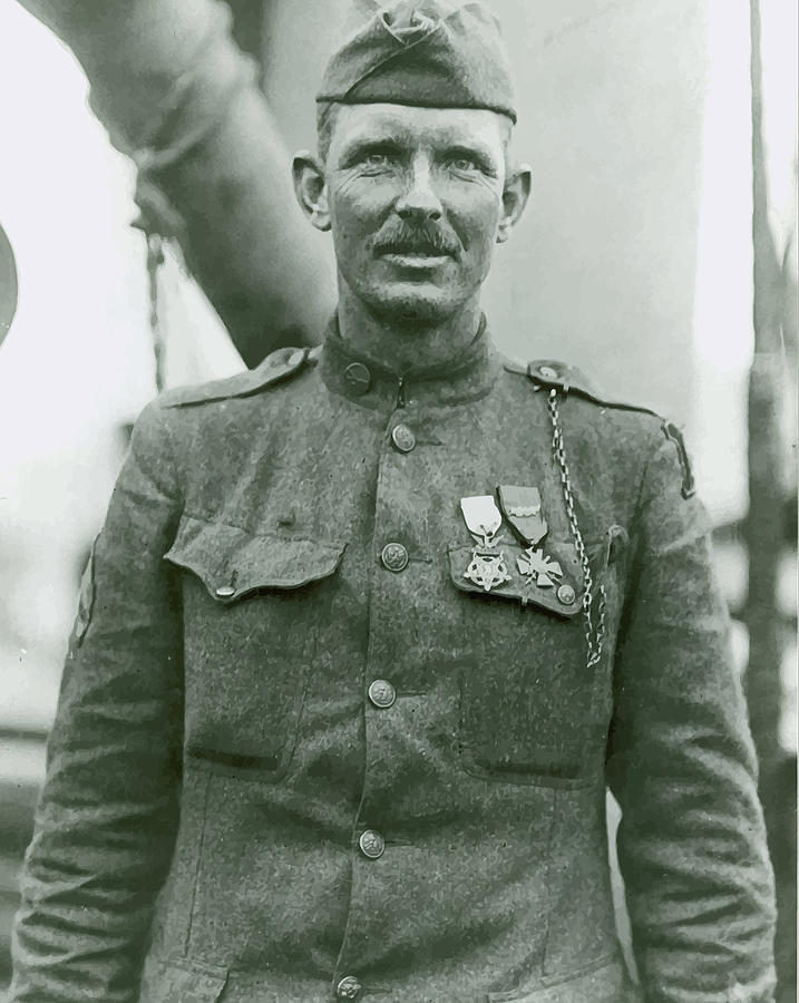 Sergeant York Painting - Sergeant Alvin York by War Is Hell Store