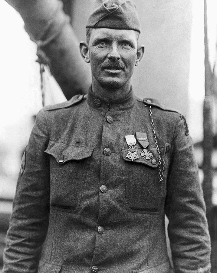 Alvin York Photograph - Sergeant York - World War I Portrait by War Is Hell Store
