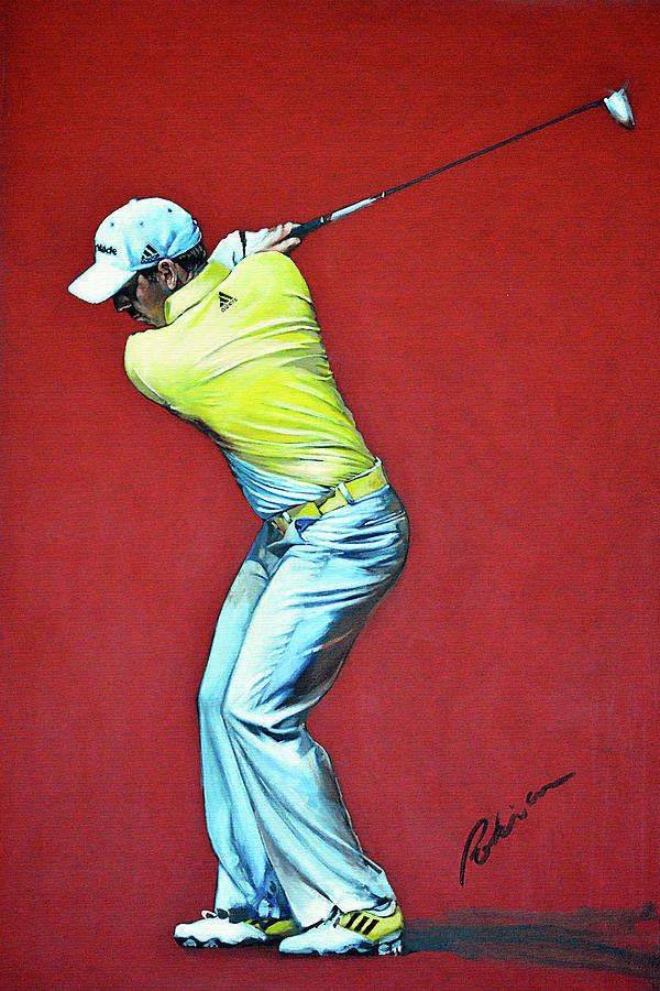 Sergio Garcia Painting - Sergio Garcia By Mark Robinson by Mark Robinson