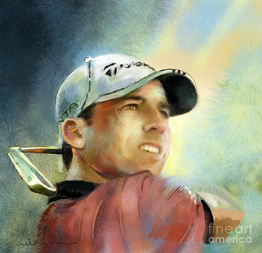 Sergio Garcia In The Castello Masters Painting by Miki De Goodaboom