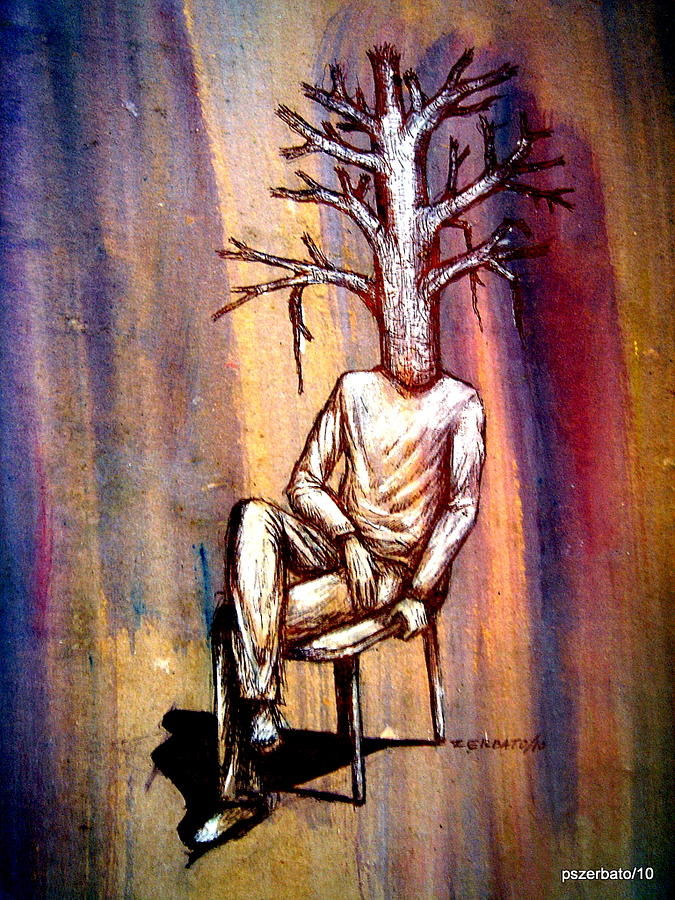 Humans Digital Art - Series Trees Drought 2 by Paulo Zerbato