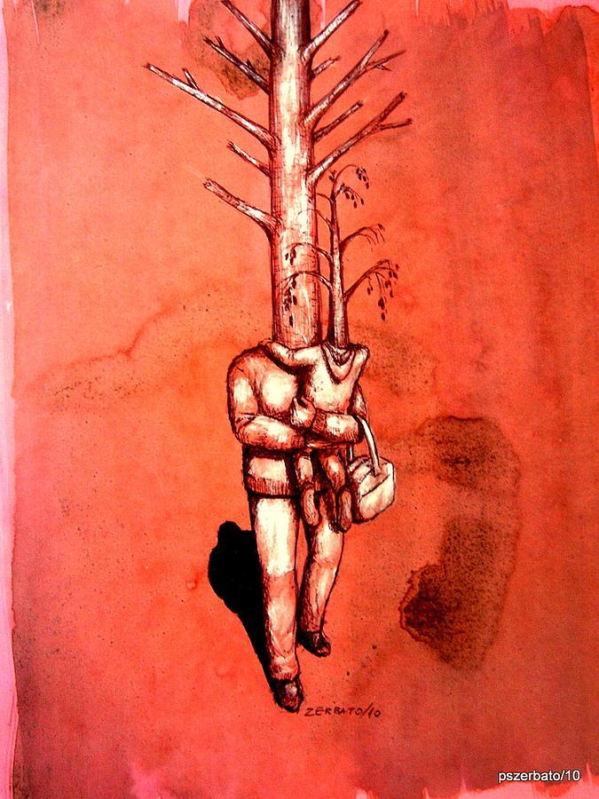 Humans Digital Art - Series Trees Drought 3 by Paulo Zerbato